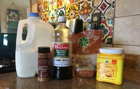 Vanilla Atole Ingredients