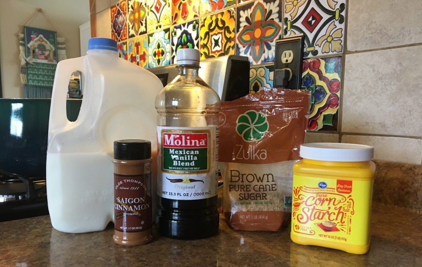 Vanilla Atole Ingredients
