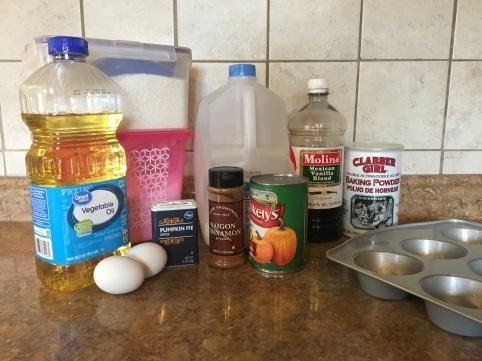 Pumpkin Spice Muffins Ingredients