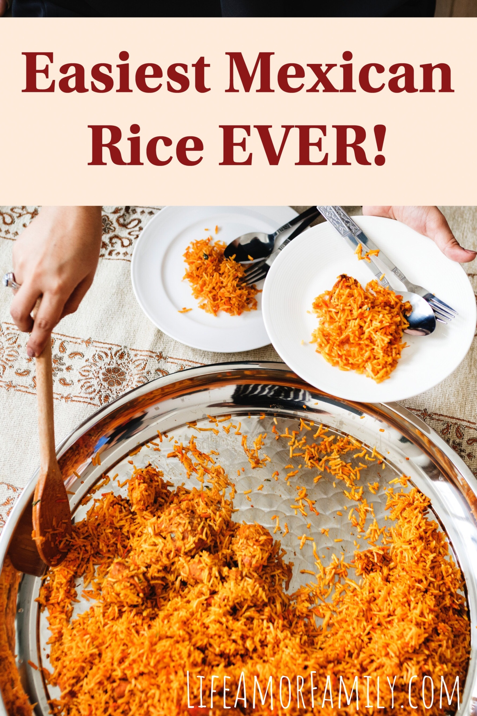 Life Amor Family's Easiest Mexican Rice EVER Featured Image