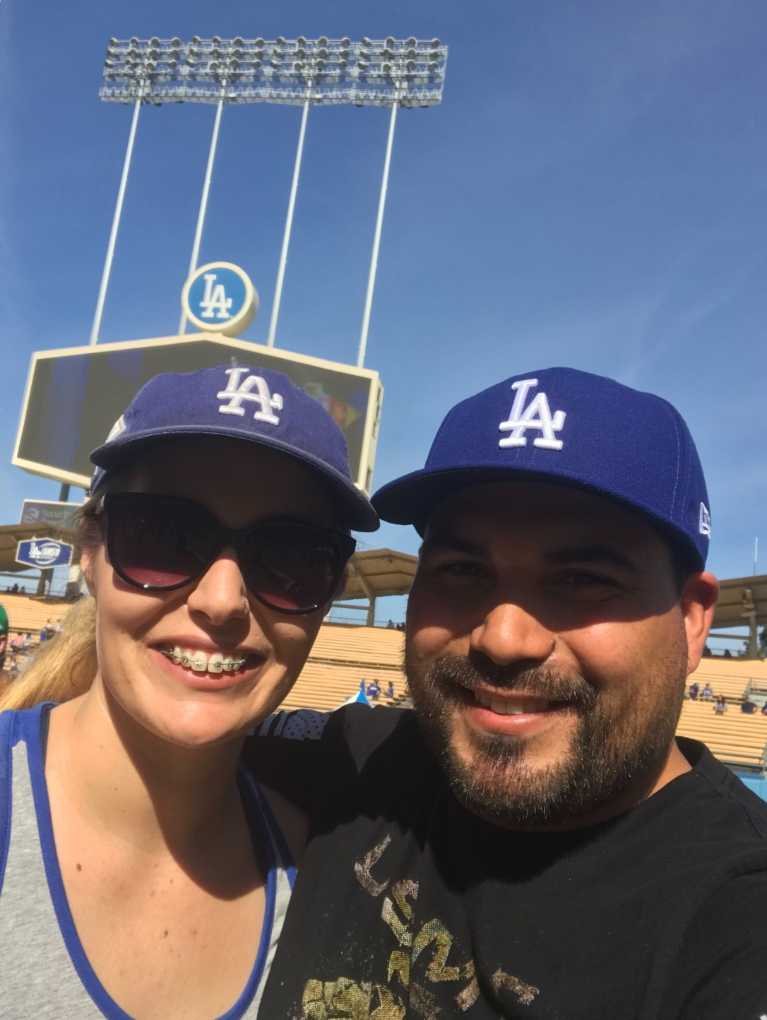 Dodger Stadium Fan Fest 2019 on the field