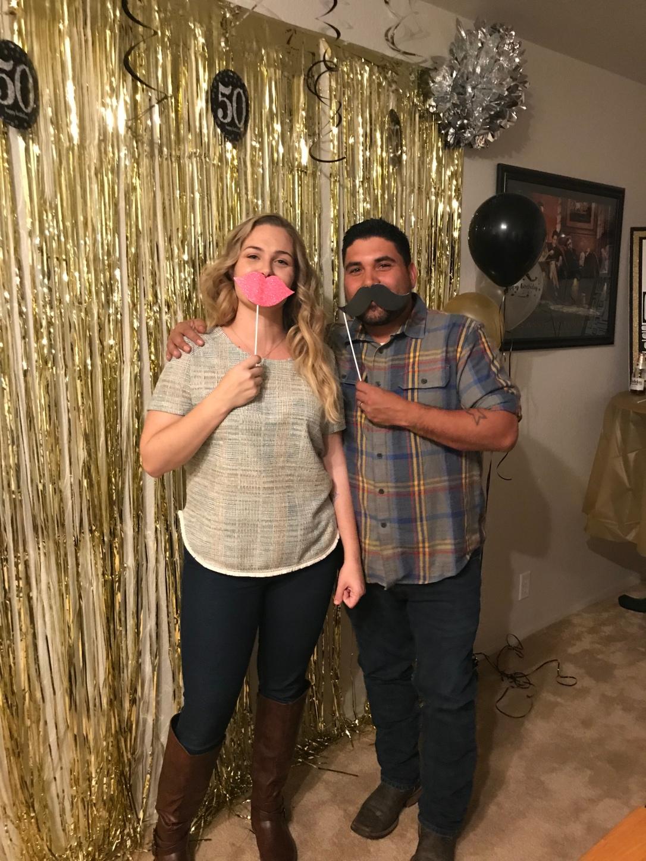 Leo and I celebrating