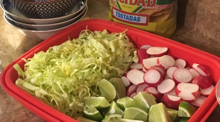 lifeamorfamily's mexican pozole prepared garnishes