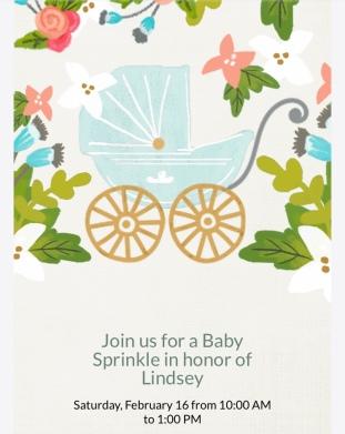 Life Amor Family Baby Sprinkle Invitation