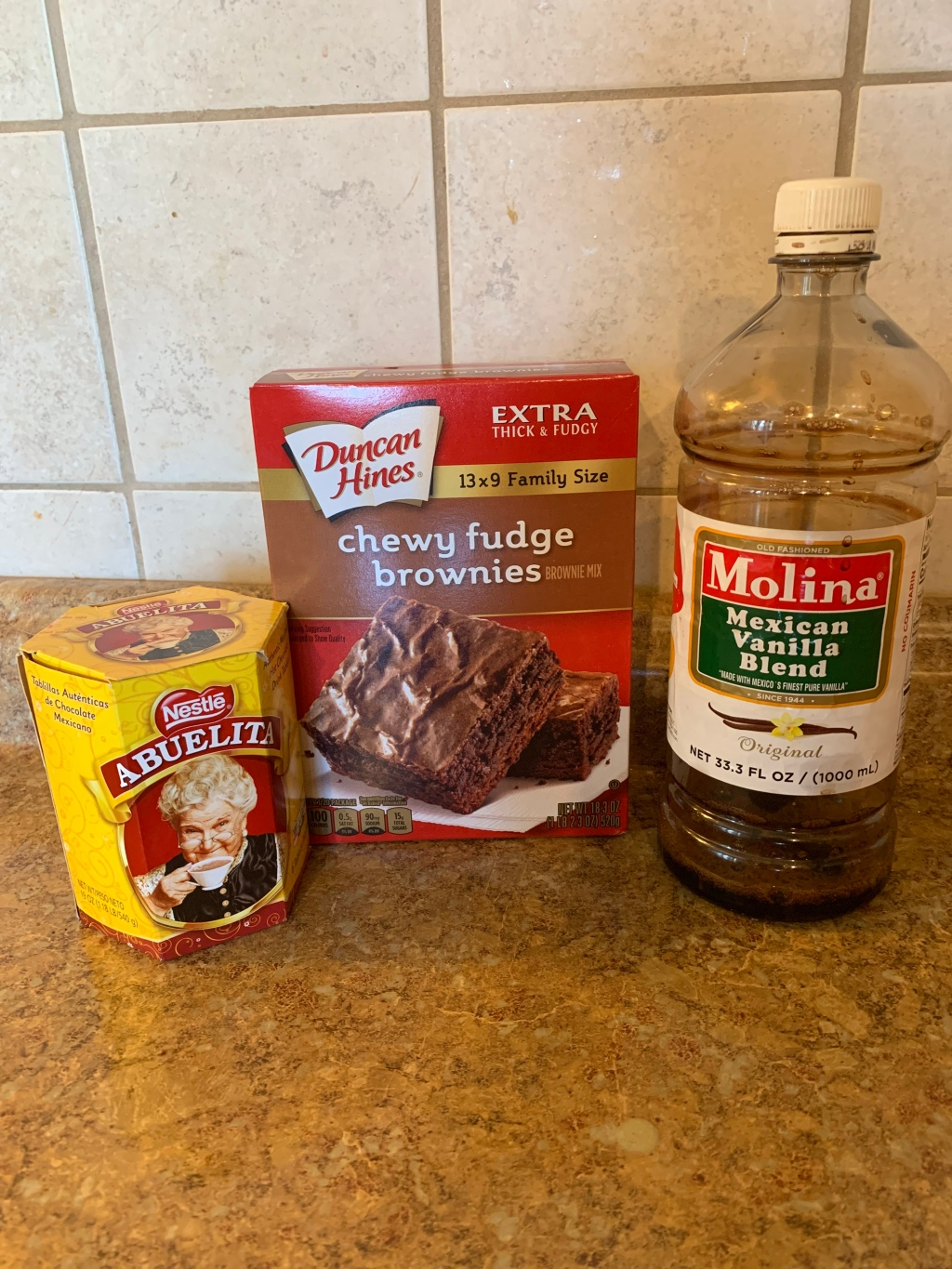 Lifeamorfamily's Mexican Chocolate Brownies ingredients